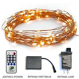Fairy Star String Lights - 39ft Extra Long Warm White LED Co