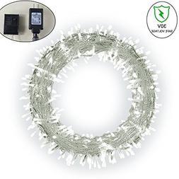 Fairy String Light, Ucharge Led Christmas Light White 200led