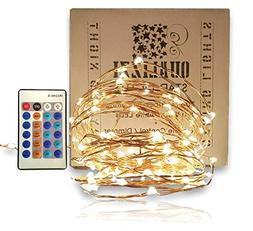 Fairy Lights With Remote Control Dimmer Warm White Indoor Ou