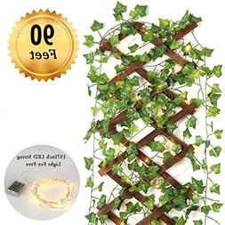 Fake Vines- 12pcs 90 Ft Artificial Ivy vines hanging vines f