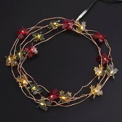 Darice Fall Leaf String Lights: 5.6 feet w