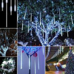Falling Rain Drop Icicle Snow Fall String LED Cascading Xmas