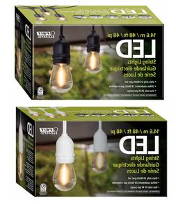 Feit 48' 24 LED Bulbs Filament String Light Set