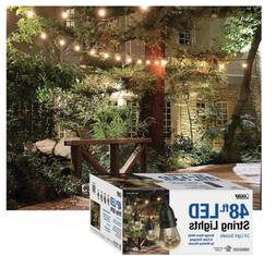 Feit 48ft 24 LED RGB Outdoor Weatherproof Color Changing Str