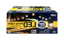 FEIT Electric LED Lantern Light String Clear 20 ft. L MFG Nu
