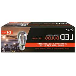 FEIT LED Replacement String Light Bulbs 24-pack, Brand New!!