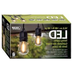 Feit Outdoor Weatherproof String Light Set 48ft 24 Black LED