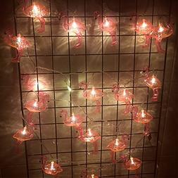 SUPOW Flamingo Lights Outdoor LED String Lights Set of 10 LE