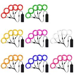 Flexible Neon LED Light Glow EL Wire String Strip Rope Tube