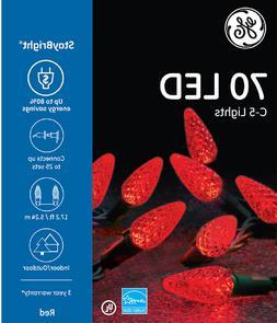 GE G.E. 70 LED C-5 Red Christmas String Lights C5 Staybright