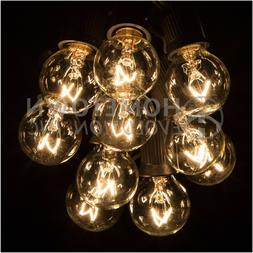 G30 Clear Outdoor Globe Patio String Lights