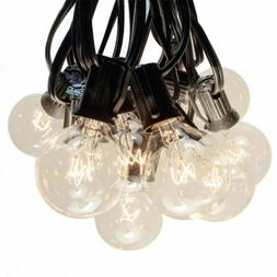 G40 Clear Outdoor Globe Patio String Lights  TM