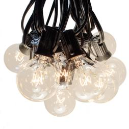 G40 Clear Outdoor Globe Patio String Lights
