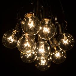 50 Foot G40 Patio Globe String Lights with Clear Bulbs for O