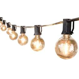 25Ft G40 Globe String Lights with Clear LED Bulbs, Energy Sa