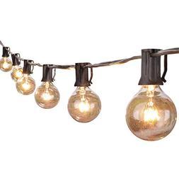 Brightown 50Foot G40 Globe Outdoor Patio String Lights UL Li