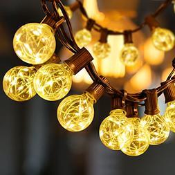 Sunnest 13FT G40 Globe String Lights, 25 LEDs G40 Bulb with