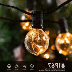 G40 Patio LED Globe Lights Outdoor 30FT Backyard String Lamp