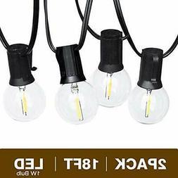 Svater Globe Led String Lights 2x18FT 10 Hanging Socket with