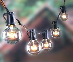 Outdoor G40 String Lights, Vintage Backyard Patio Lights wit
