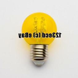 G50 Led Bulb Yellow 16 Led's Inside - G50 yellow LED Bulb