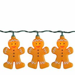 Set of 10 Gingerbread Kisses Cookie Boy Novelty Christmas Li