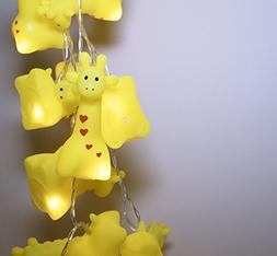 LuxLumi Giraffe Squeak & Squeeze String Lights Batteries Inc