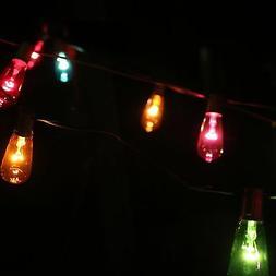 Glass Edison Bulbs String Lights In Multi Color - 10 Bulb St