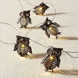Pier 1 Imports Glimmer String Lights Owl LED Bronze Iron Ind