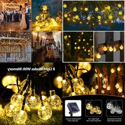 Globe Solar String Lights 20Ft 30 LED Waterproof 8 Modes Cry