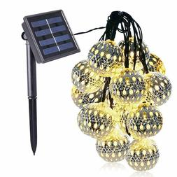 Globe Solar String Lights, 20ft 30 LED Solar Globe Lights,Wa