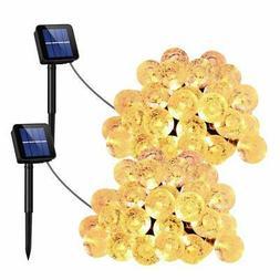 UMANOR Globe Solar String Lights, 8 Modes 30 LED Crystal Str