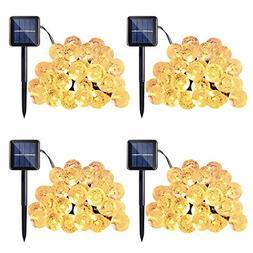 Qedertek 4 Pack Globe Outdoor Solar String Lights, 20ft 30 L