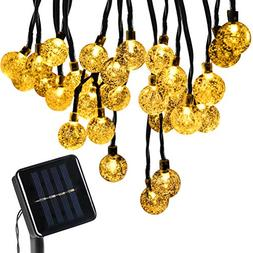 BOMEON Globe Solar String Lights 30 LED 21ft 8 Mode Bubble C