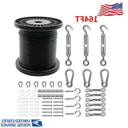Globe String Light Suspension Kit Include 164 FT Wire Rope C