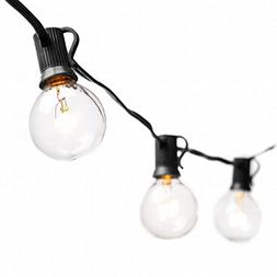 Globe String Lights with G40 Bulbs - Connectable Outdoor Str