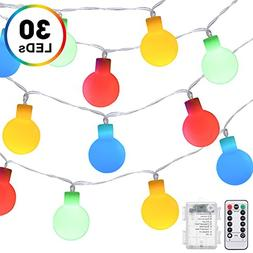 Globe String Lights, DecorNova Battery Operated Fairy Ball S