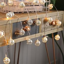 Goodia 10.49ft 30 LED Globe Fairy String Lights, Battery Ope