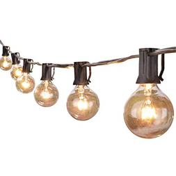 Globe String Lights With Clear Bulbs Hanging Indoor Outdoor