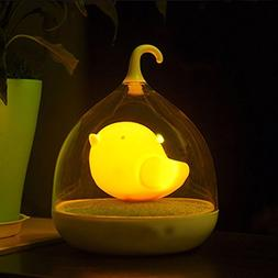 GOTD Children's Night Lights Bird Hand-held Design Touch Sen