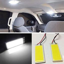 Gotd 2pcs Xenon HID White 36 COB LED Dome Map Light Bulb Car