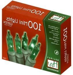 100-Count Green Christmas Light Set