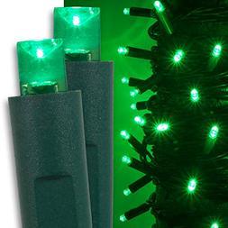 Kringle Traditions Green LED Christmas Mini String Light Set