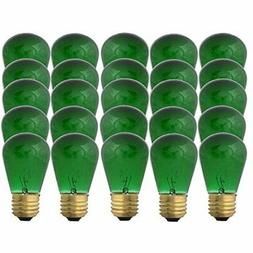 Green S14-11w Bulb - Patio String Light Replacement Bulb - 2