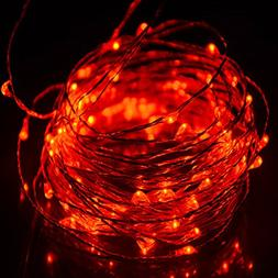 HAHOME Fairy String Lights 33Ft 100LEDs Copper Wire Starry L