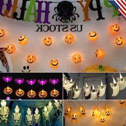 Halloween Fairy LED String Lights Skull Pumpkin Ghost Decora