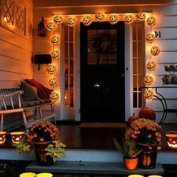 Halloween Pumpkin Lamps LED Fairy Lights Outdoor Indoor Gard