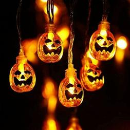 Halloween Pumpkin Lantern Fairy String Lights 13.8 Feet 40 L