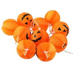 Halloween LED String Lights Fairy Pumpkin Lantern Party Home
