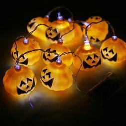 Pumpkin String Lights Lamp 10 LED 4.6ft Decorations Lighting
